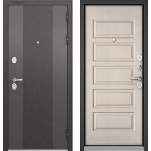 Входная дверь - STANDART 90 (МР Черный шелк 9К-4/Дуб светлый матовый 9S-108)