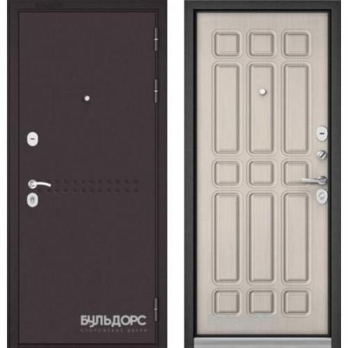 Входная дверь - Бульдорс MASS-90( Букле шоколад R-4 /Ларче бьянко 9S-111)
