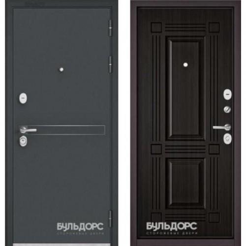 Входная дверь - STANDART 90 (МР Черный шелк D-4/ Ларче темный 9S-104 )