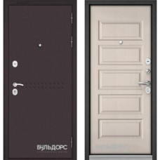 Входная дверь - MASS-90 (МР Букле шоколад R4/ Дуб светлый матовый 9S-108 )