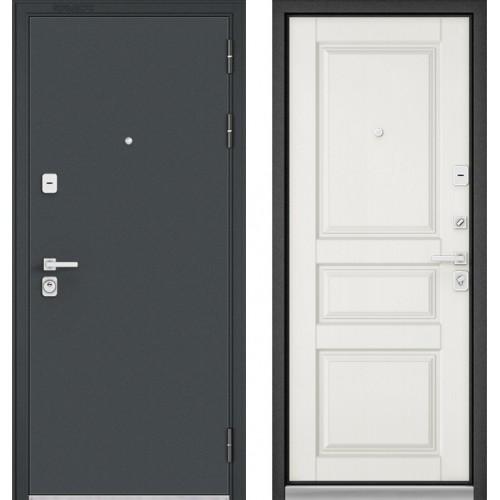 Входная дверь - Бульдорс PREMIUM 90 Черный шелк /Дуб Белый матовый 9РD-2