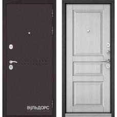 Входная дверь - MASS-90(МР букле шоколад R4 /Ларче белый 9SD2 )