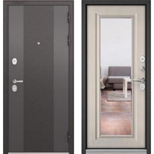 Входная дверь - STANDART 90 (МР Чёрный шелк 9К-4 /Ларче бьянко 9S-140 )