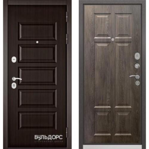 Входная дверь - Бульдорс MASS-90(РР Ларче шоколад 9S-108 / Дуб шале серебро 9S-109)