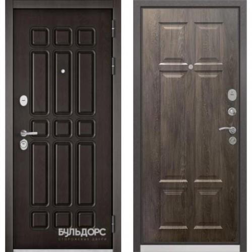 Входная дверь - STANDART - 90 (РР Дуб шоколад 9S-111/ Дуб шале серебро 9S-109)