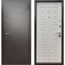 Входная дверь - Econom Букле шоколад /Ларче Бьянко Е-110