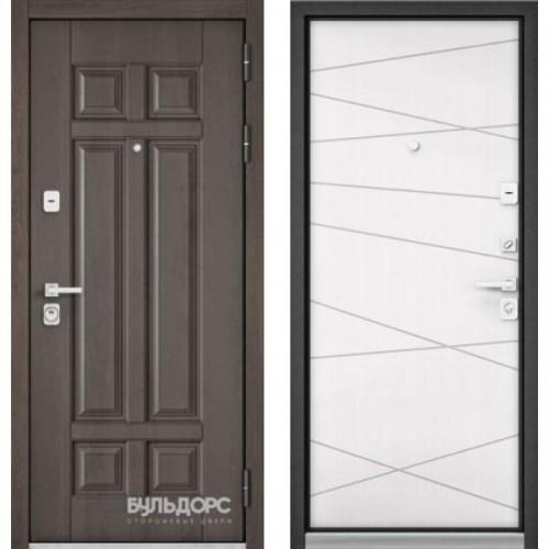Входная дверь - PREMIUM 90 (Дуб шале серебро 9Р-115 /Белый софт 9Р-130)