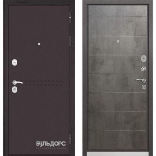 Входная дверь - MASS-90(МР Букле шоколад R4/ Бетон темный 9S-135 )