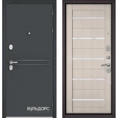 Входная дверь - STANDART 90 (МР Черный шелк D-4/Ларче бьянко-царга CR-3 Lakobel White)