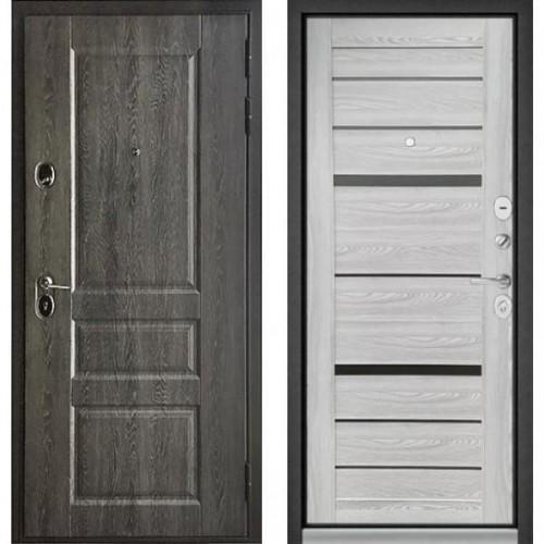 Входная дверь - STANDART 90 (РР Дуб графит 9SD-2/Ясень ривьера Айс - царга CR-1 Matelac Silver Grey )