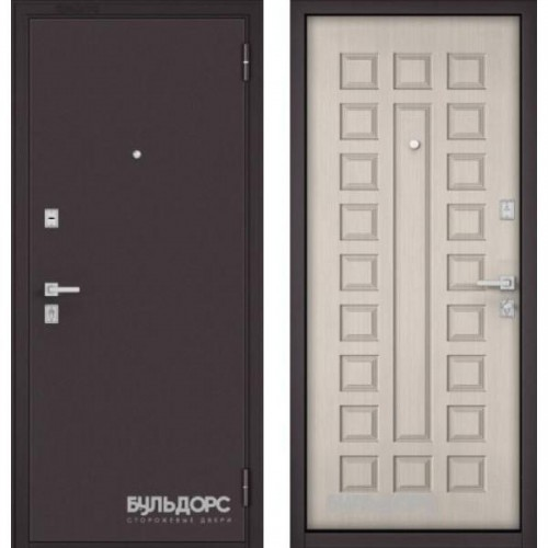 Входная дверь - МАSS -70 Букле шоколад/Ларче бьянко М-110
