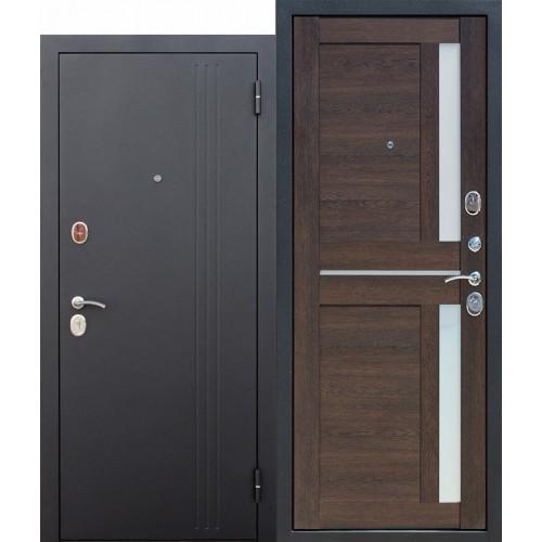 Входная дверь - 7,5 см НЬЮ-ЙОРК Царга Каштан мускат