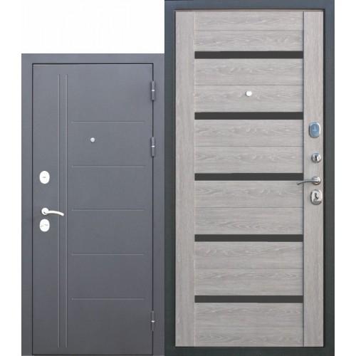 Входная дверь - Троя Серебро Дымчатый Дуб 10см