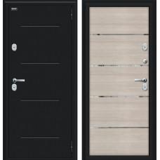 Дверь с терморазрывом Браво Thermo Лайн Букле черное/Cappuccino Veralinga