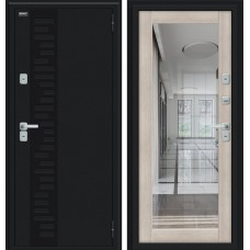 Дверь с терморазрывом Thermo Флэш Декор Букле черное/Cappuccino Veralinga