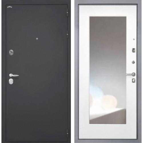 Входная дверь - Интекрон Колизей Зеркало флз-м белая матовая