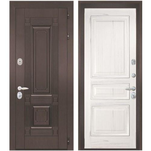 Входная дверь - Интекрон Италия-4 шпон ясень жемчуг