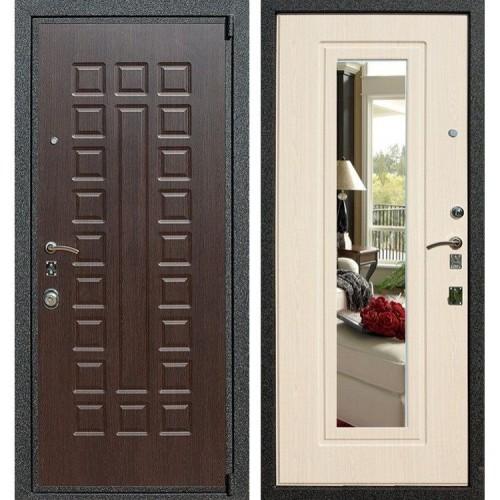 Входная дверь - Лекс 4А Mottura с зеркалом 3к (Венге / Беленый дуб)