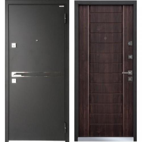 Входная дверь - Mastino Terra (Strada) Черный шелк/Дуб Мореный Хром