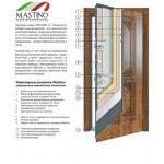 Входная дверь - Mastino Monte Дуб шале мореный/Дуб шале мореный