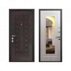 Входная дверь REX 4A Зеркало Беленый дуб