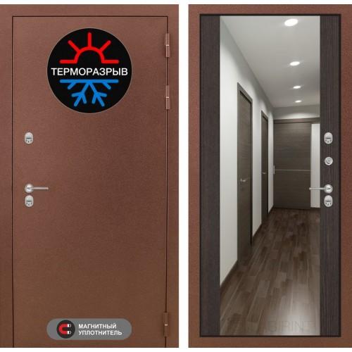 Входная дверь Термо Магнит с Зеркалом Максимум - Венге