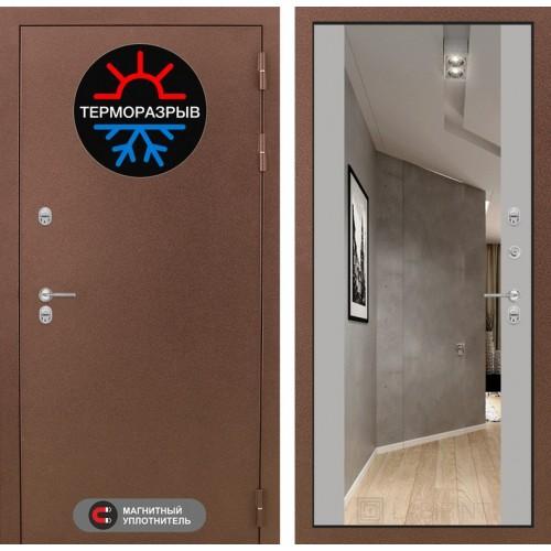 Входная дверь Термо Магнит с Зеркалом Максимум - Грей софт