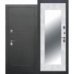 Входная дверь - 11 см ISOTERMA Букле чёрный Зеркало MAXI Бетон снежный