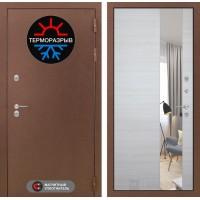 Входная дверь Термо Магнит с Зеркалом - Акация светлая горизонтальная